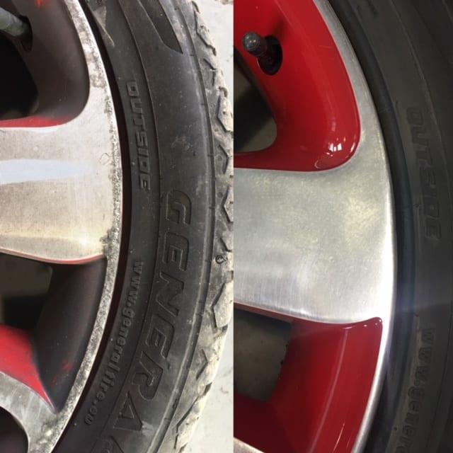 Curbed Alloy Wheel Refurbishment