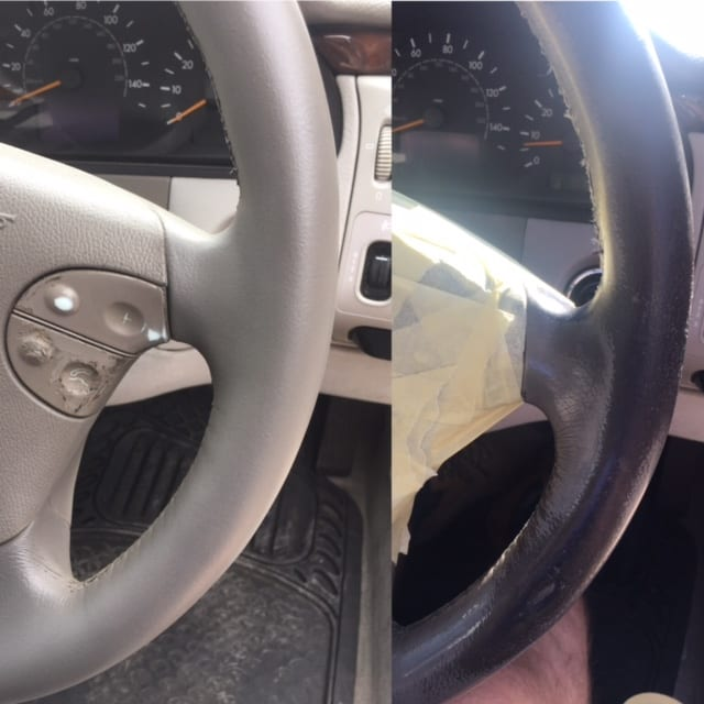 Leather Sofa Repairs Portsmouth: Worn Out Mercedes Steering Wheel Repaired