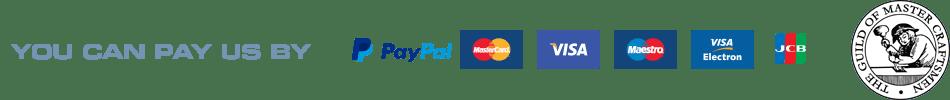 You can pay us by Paypal, Visa, Mastercard
